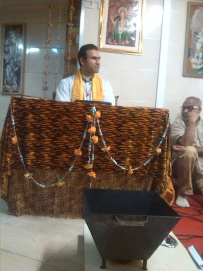 Kerst Katha in de Shiv Mandir